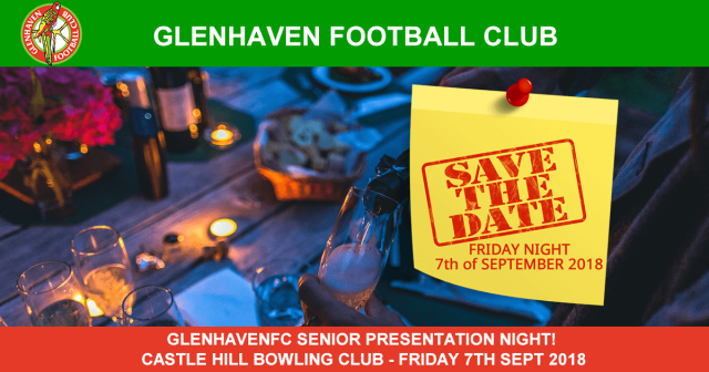SAVE THE DATE! SENIOR PRESENTATION NIGHT - FRIDAY 7TH SEPTEMBER 2018!